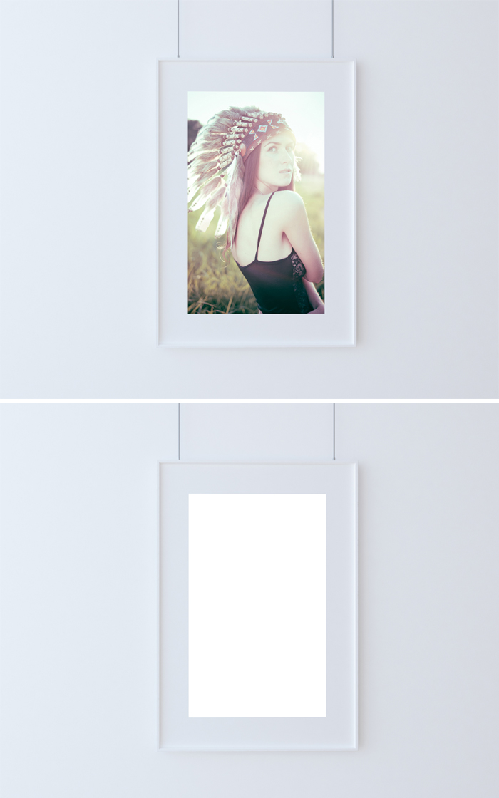 Single Poster Frame Mockup   Mockup Templates Images Vectors Fonts ...