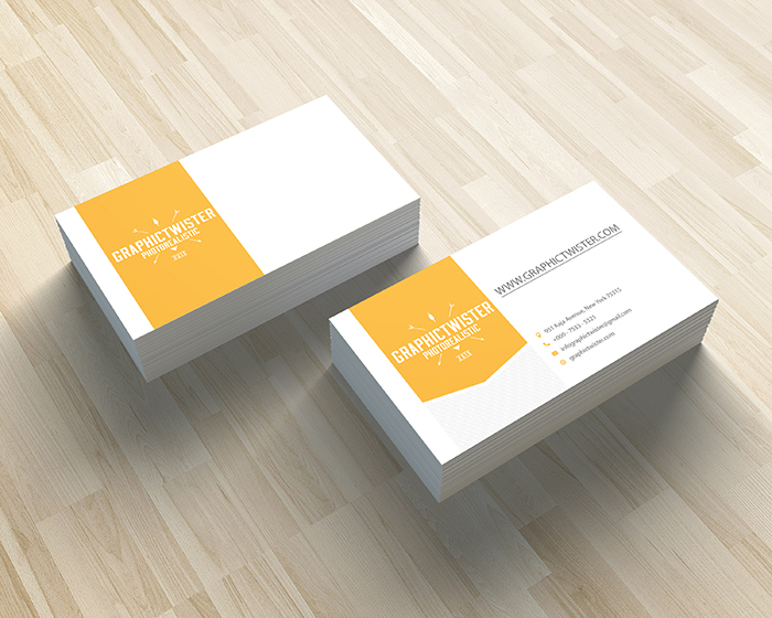 Corporate yellow business card details colourmoves