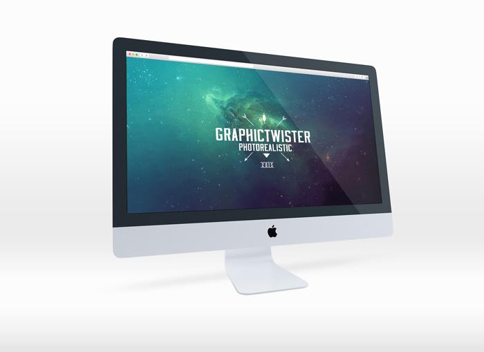 iMac Mockup Clean Perspective Left Side
