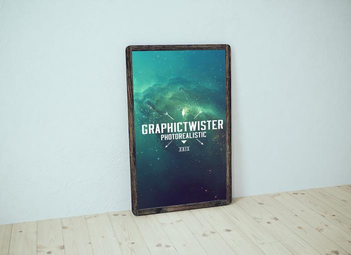 old wood poster frame mockup - Wooden Poster Frames