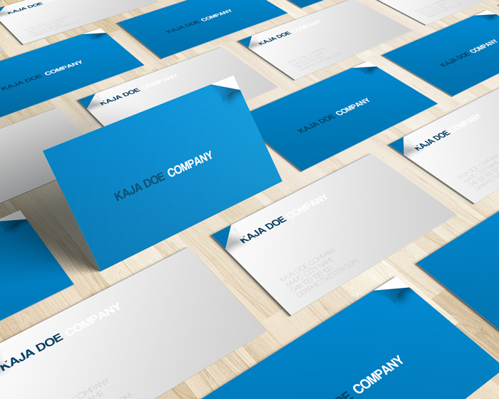 Blue business card colourmoves