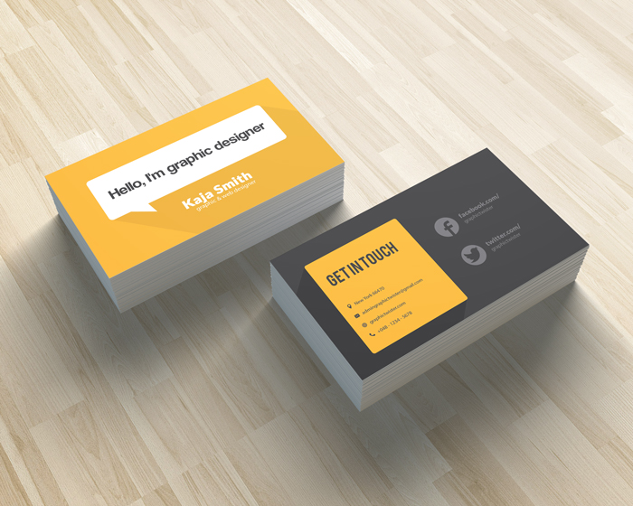 Yellow cartoon business card mockup templates images vectors fonts details colourmoves Image collections