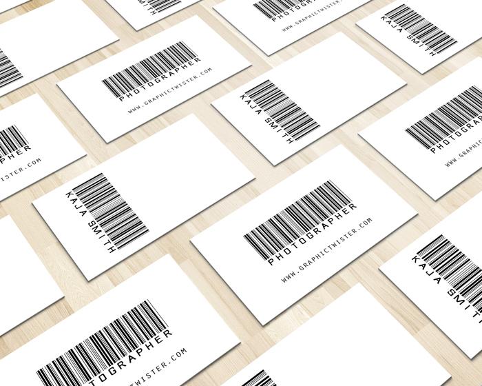 Barcode business card mockup templates images vectors fonts design details colourmoves Gallery