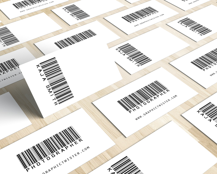 Barcode business card mockup templates images vectors fonts design barcode business card colourmoves