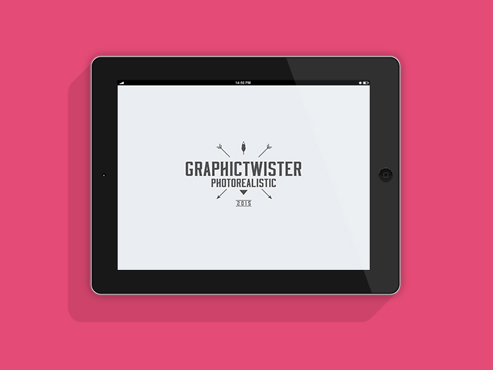 ipad landscape flat mockup | mockup templates images vectors fonts, Powerpoint templates