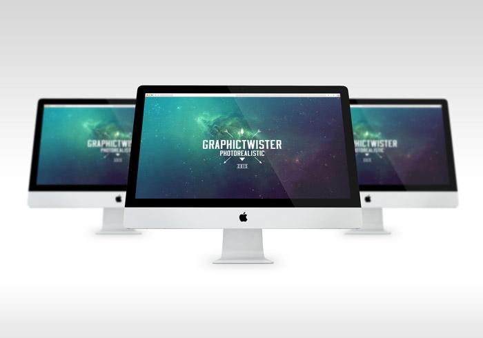 Photorealistic iMac Mockup