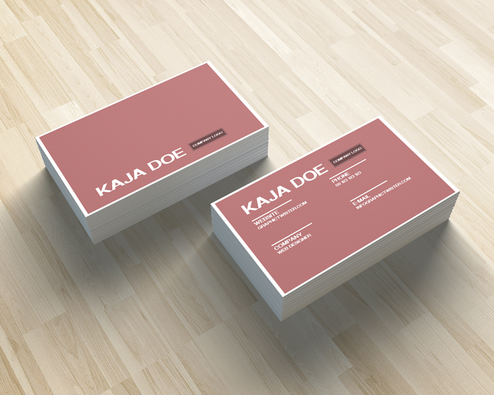 Pink business card colourmoves