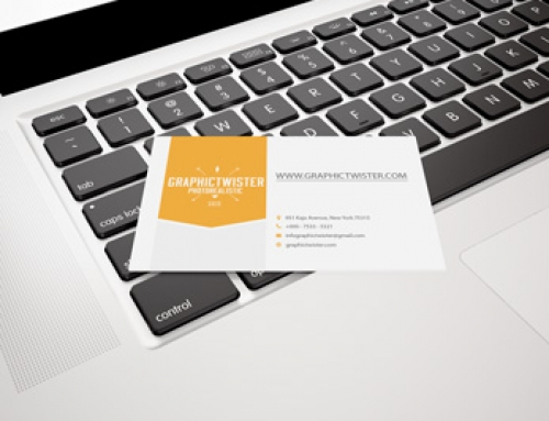 Business Card Mockup on Apple