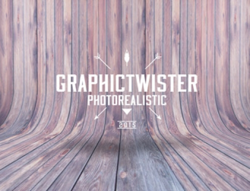Curved Wood Background