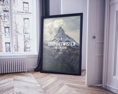 Poster-frame-on-the-floor
