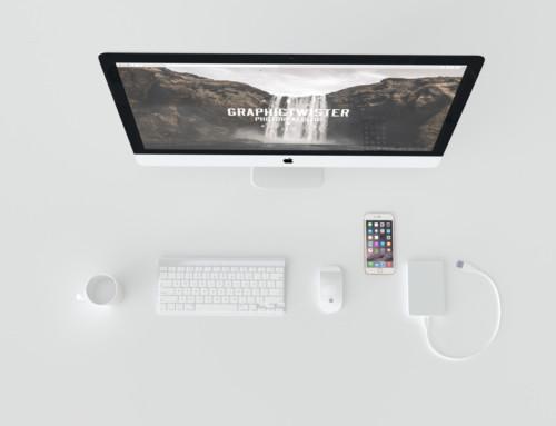 White Top iMac Mockup
