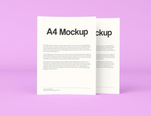 Double A4 Mockup