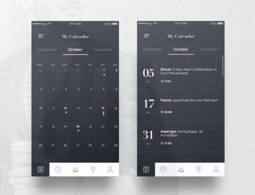 Calendar App Inspiration