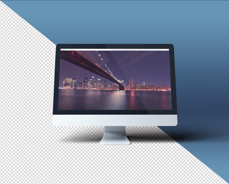Transparent iMac Scene