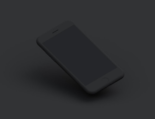 Set of dark matte iPhone Mockups