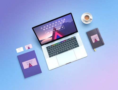 Corporate Branding Mockup with MacBook