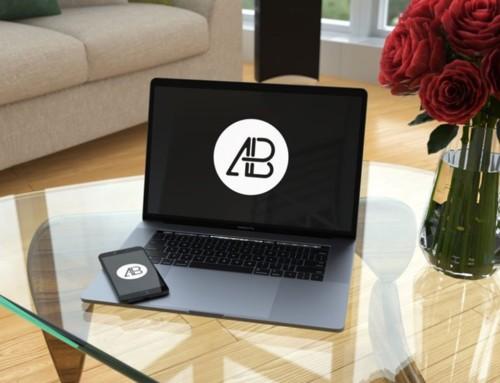 Elegant MacBook Pro and iPhone Mockup