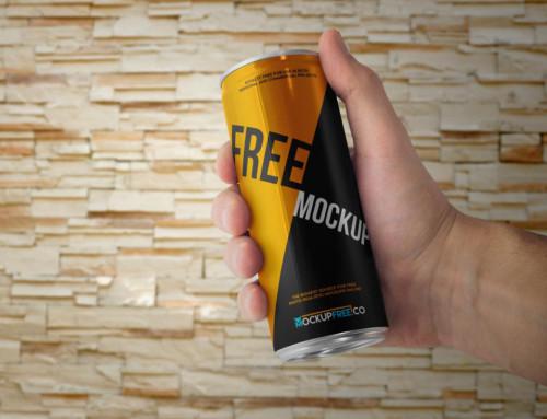 Set of Energy Drink Can Mockups