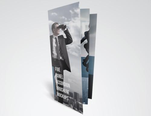Set of 5-Panel Brochure Mockups