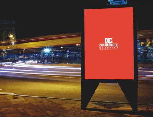 Billboard at Night Mockup