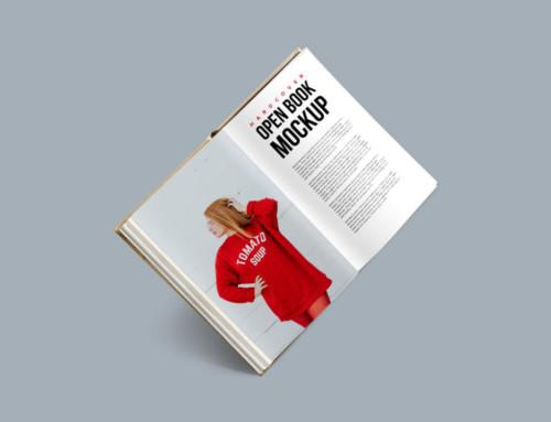 Floating Hardcover Book Mockup