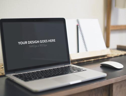 Set of MacBook on Desk Mockups