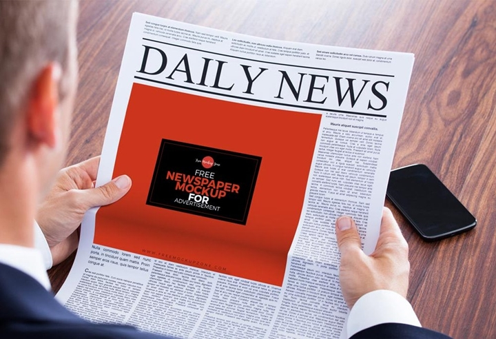 Newspaper Ad Mockup Mockup Templates Images Vectors Fonts Design
