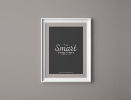 Photo Frame on Wall Mockup