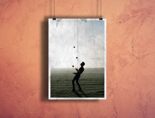 Poster on Hangers Mockup