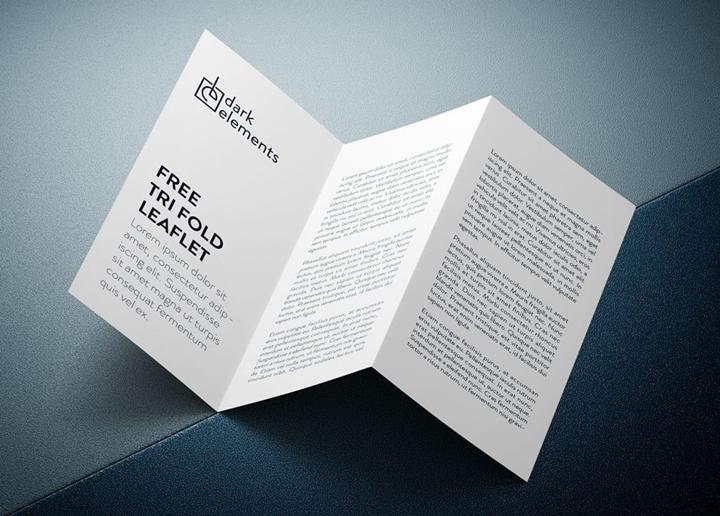 Trifold Leaflet Mockup Mockup Templates Images Vectors Fonts Design - Brochure mockup template